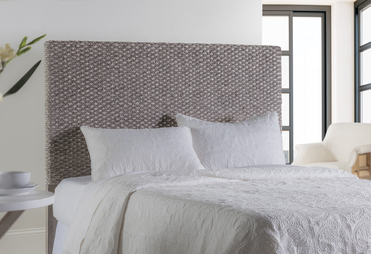 Grey Braided Headboard